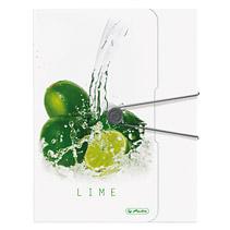 Dosar plic cu elastic A4 PPFreshFruit lime