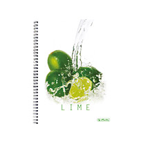 Caiet cu spira A4 mate FreshFruit lime