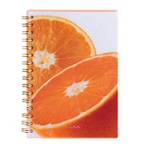 Caiet spira A5 PP mate FreshFruit portocale,100file