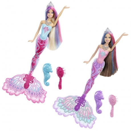 Papusa Barbie Sirena Printesa