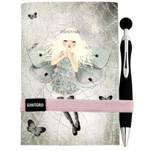 Carnet cu pix Miss Butterfly