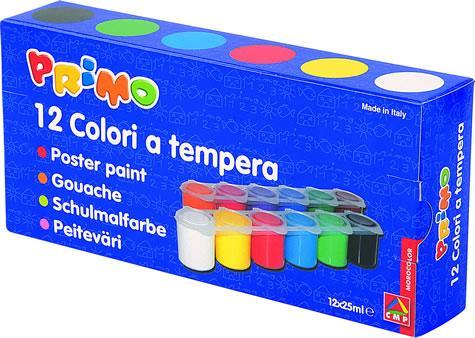 Tempera Morocolor,25ml/tub,12culori