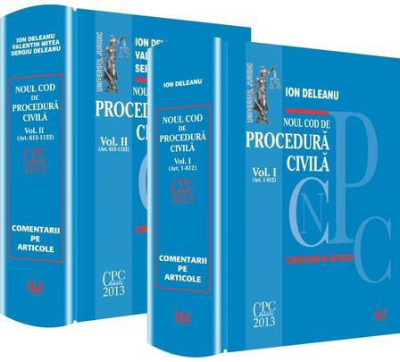 NOUL COD DE PROCEDURA CIVILA VOLUMUL 1 + 2