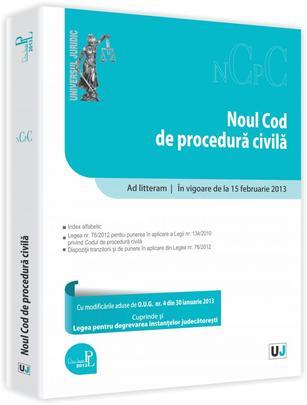 NOUL COD DE PROCEDURA CIVILA AD LITTERAM