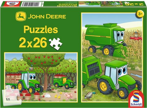 Puzzle Johnny Tractorul, 2x26 pcs
