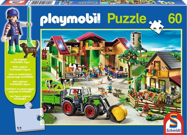 Puzzle Playmobil La ferma, 60 pcs