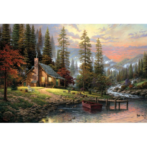 Puzzle Casa din munti