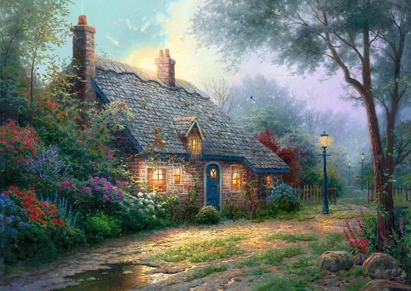 Puzzle Casa sub clar de luna
