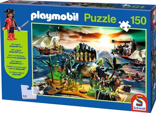 Puzzle Playmobil Insula Piratilor, 150 pcs