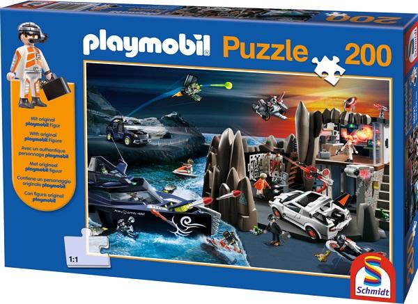 Puzzle Playmobil Top Agents, 200 pcs