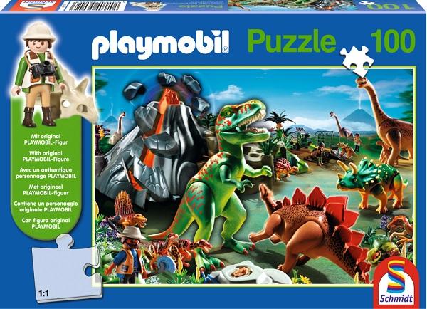 Puzzle Playmobil Lumea Dinozaurilor, 100 pcs