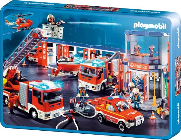Puzzle Playmobil Echipa de pompieri