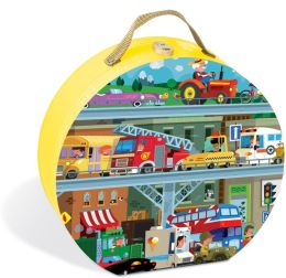 Puzzle in cutie - Vehicule (100 piese)