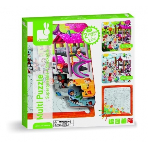 Set puzzle 3 in 1 - In parc
