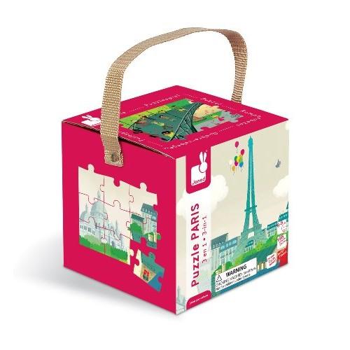 Puzzle 3 in 1  - Paris (198 piese)