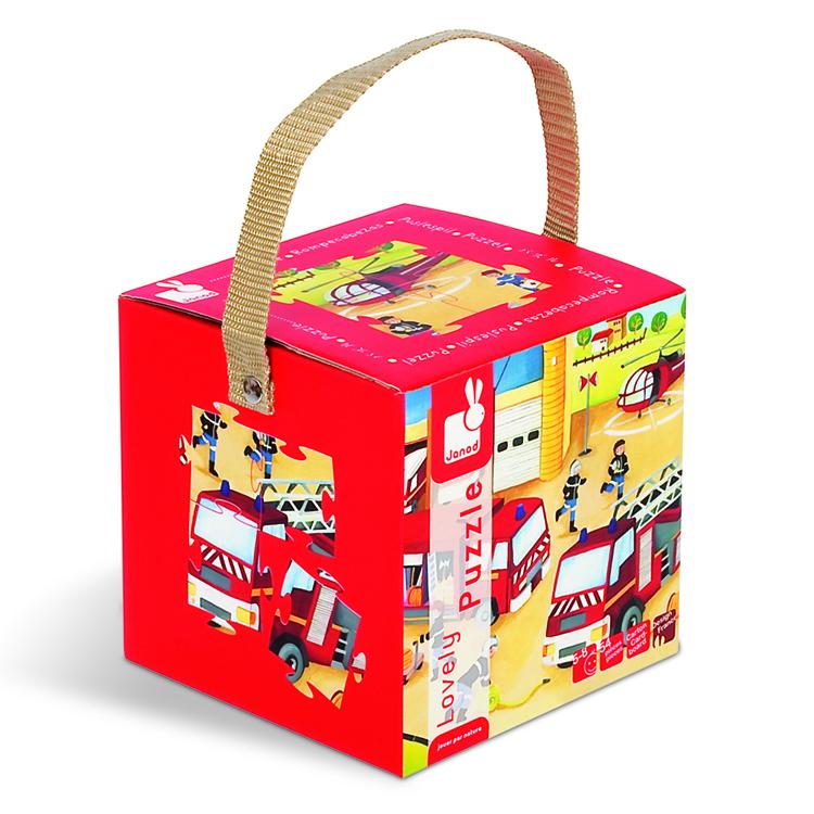 Puzzle in cutie - Pompierii (54 piese)