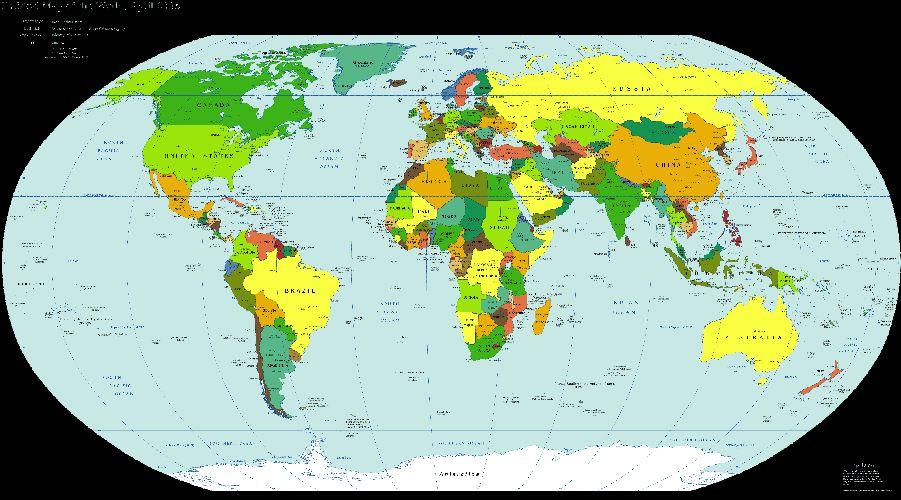Harta politica a lumii,70/100cm