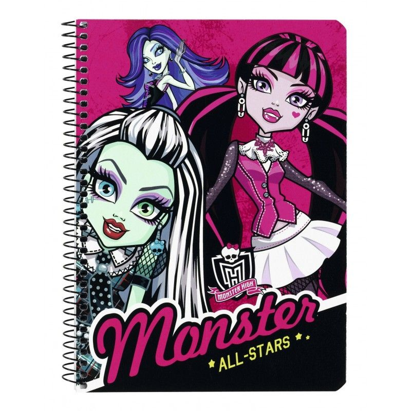 Caiet spira A5 80file MonsterHigh