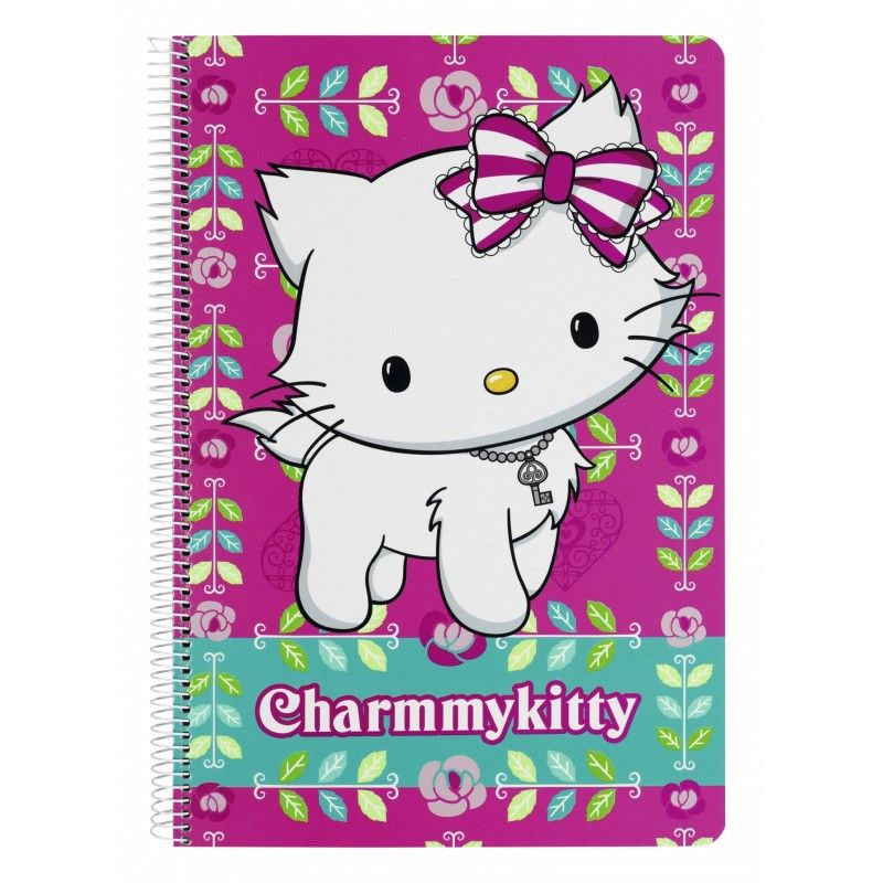 Caiet spira A4, 80 file,Charmmy Kitty