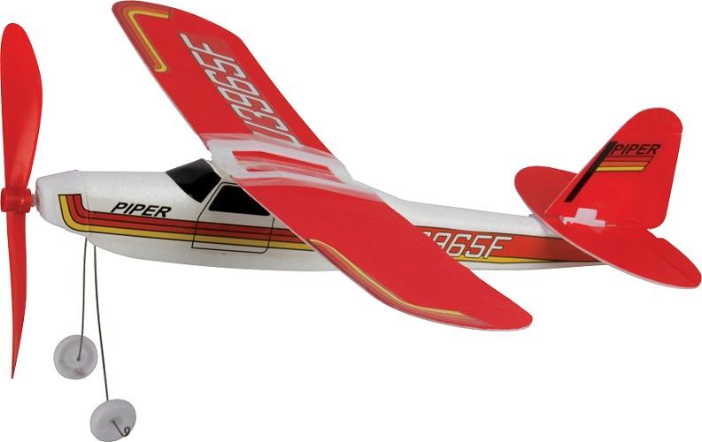 Avion polistiren cu propulsor elastic
