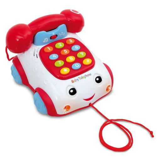 Telefon muzical cu roti pentru copii