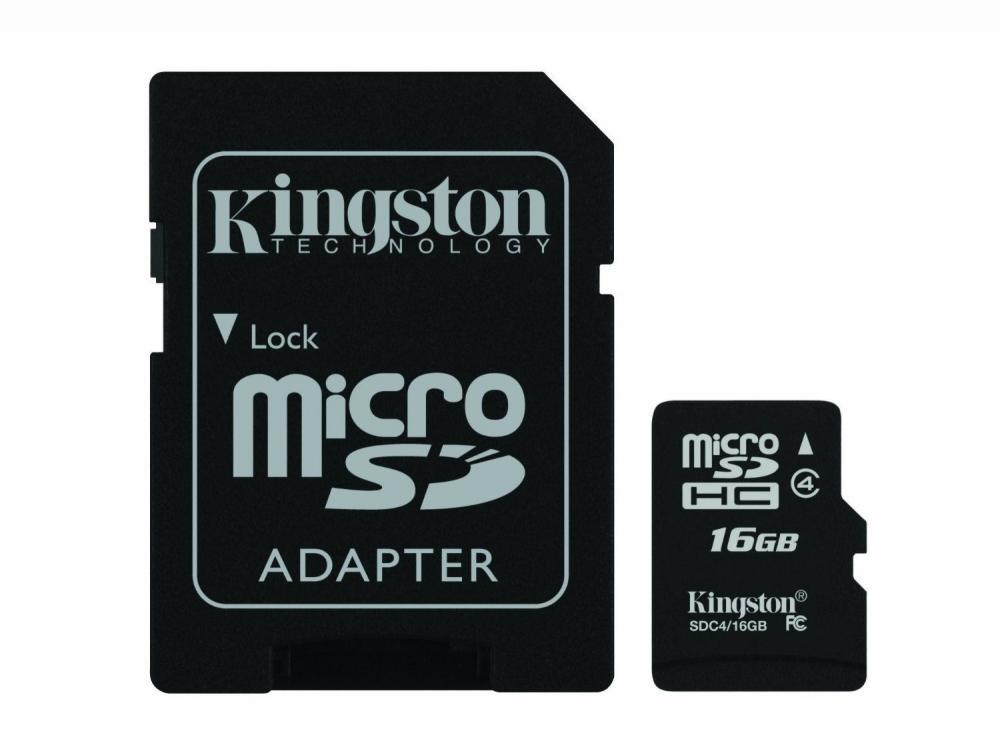 MICRO SECURE DIGITAL  CLASS4, 16GB