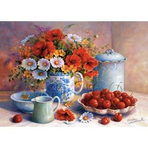 Puzzle 1500 Flori salbatice & cirese