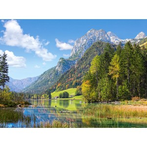 Puzzle 3000 Refugiu in muntii Alpi