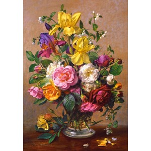 Puzzle 1500 Flori de vara in glastra