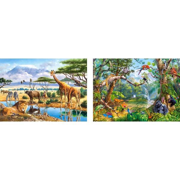 Puzzle 70+120 Savana si jungla