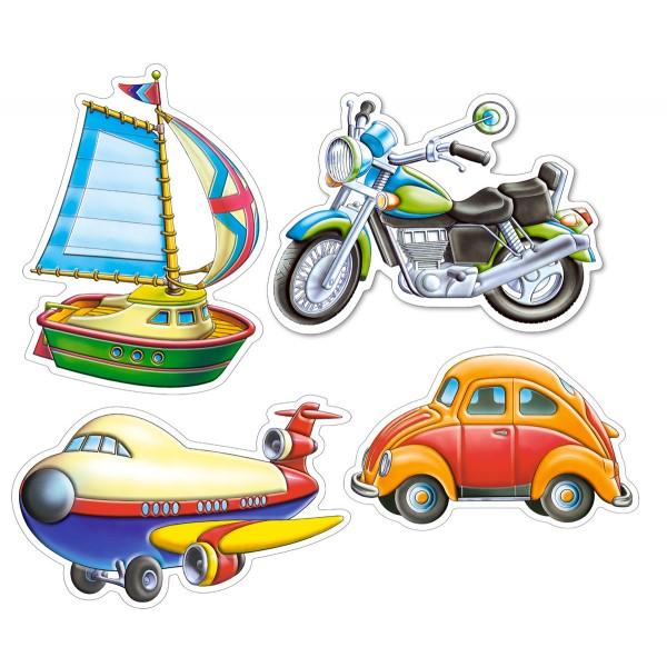 Puzzle 4+5+6+7 Mijloace de transport