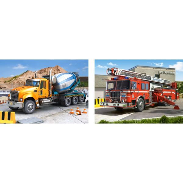 Puzzle 70+120 Camioane utilitare