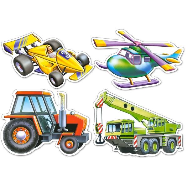 Puzzle 4+5+6+7 Autovehicule diverse