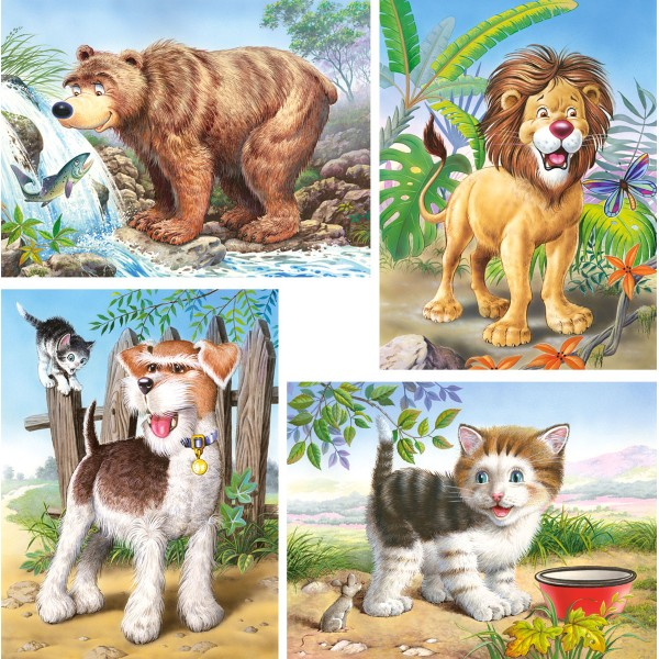 Puzzle 8+12+15+20 Animale