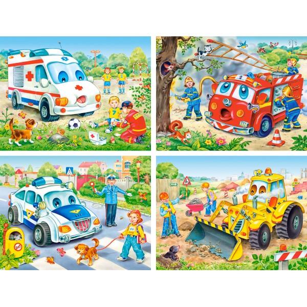 Puzzle 8+12+15+20 Autovehicule nostime