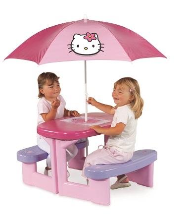 Masuta picnic+parasolar HK Smoby fete