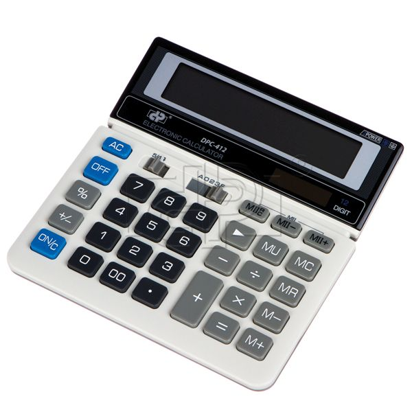 Calculator 12 digits, 412-gri DP Office