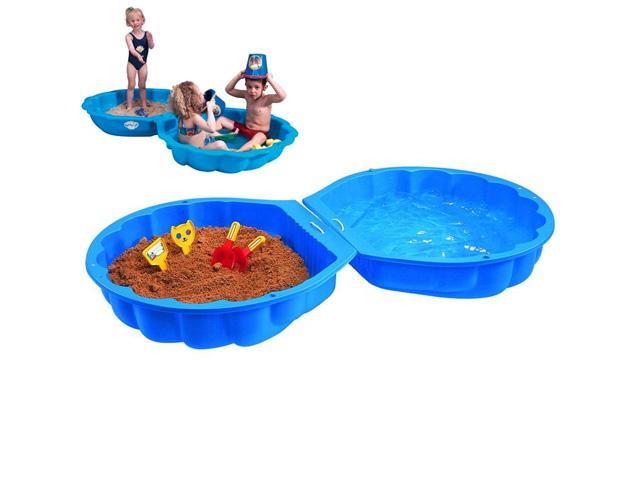 Scoica dubla apa-nisip albastru