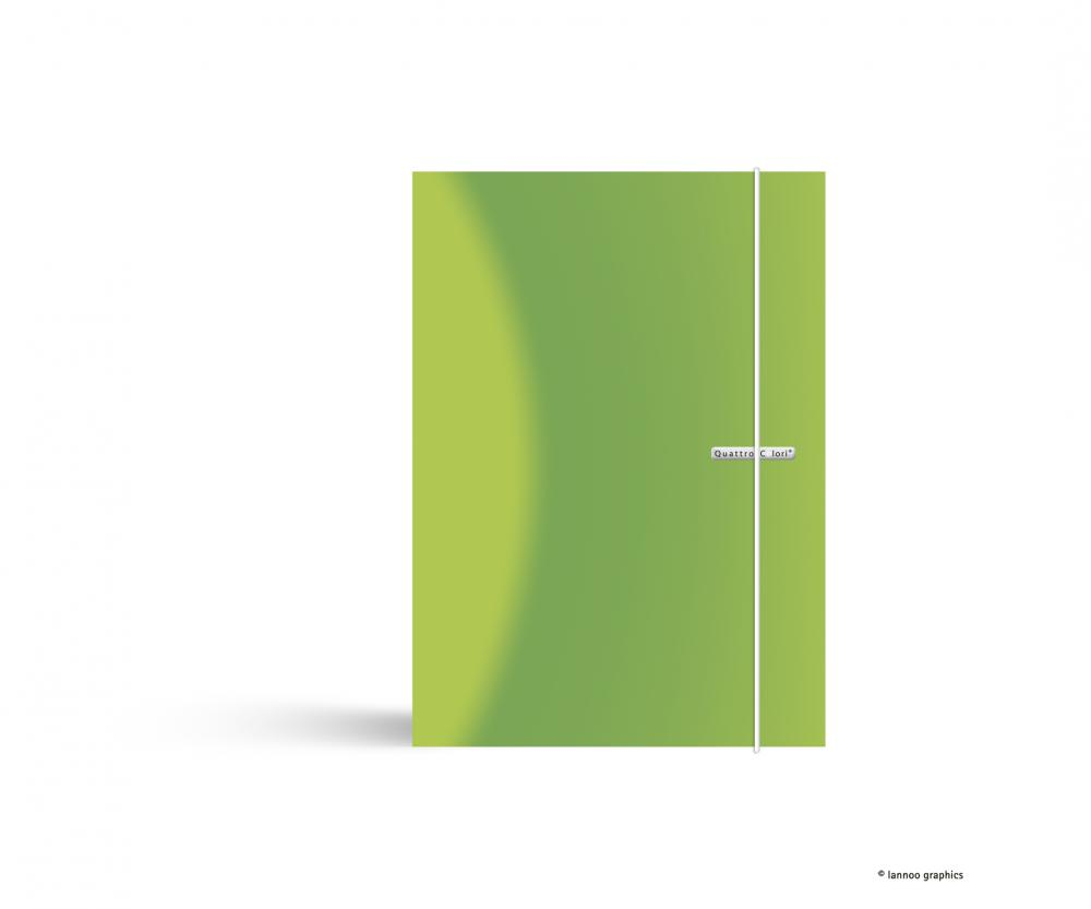 zzMapa cu elastic QuattroColori,PP,A4,verd