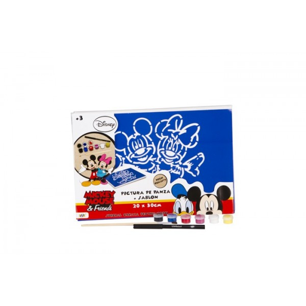 Set pictura pe panza 20x30cm, Mickey