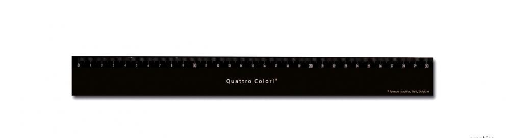 zzRigla 30 cm,QuattroColori,negru