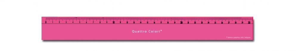 zzRigla 30 cm,QuattroColori,roz