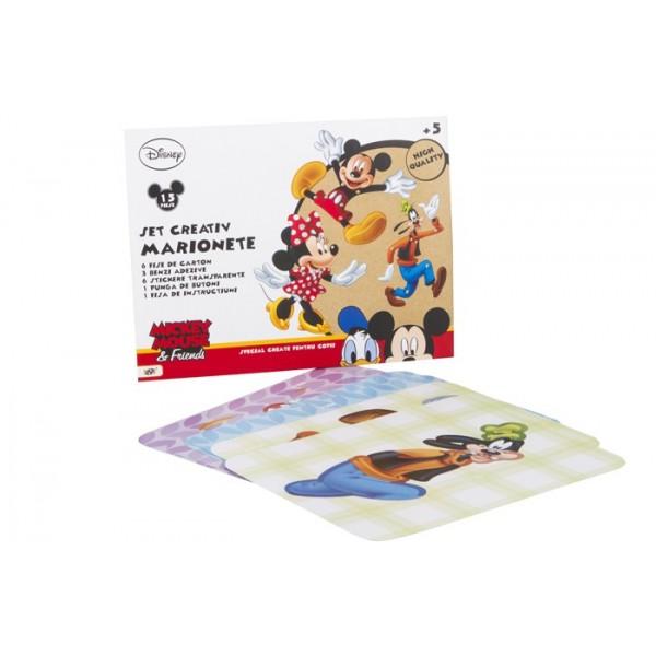 Set creativ  marionete,16 piese, Mickey