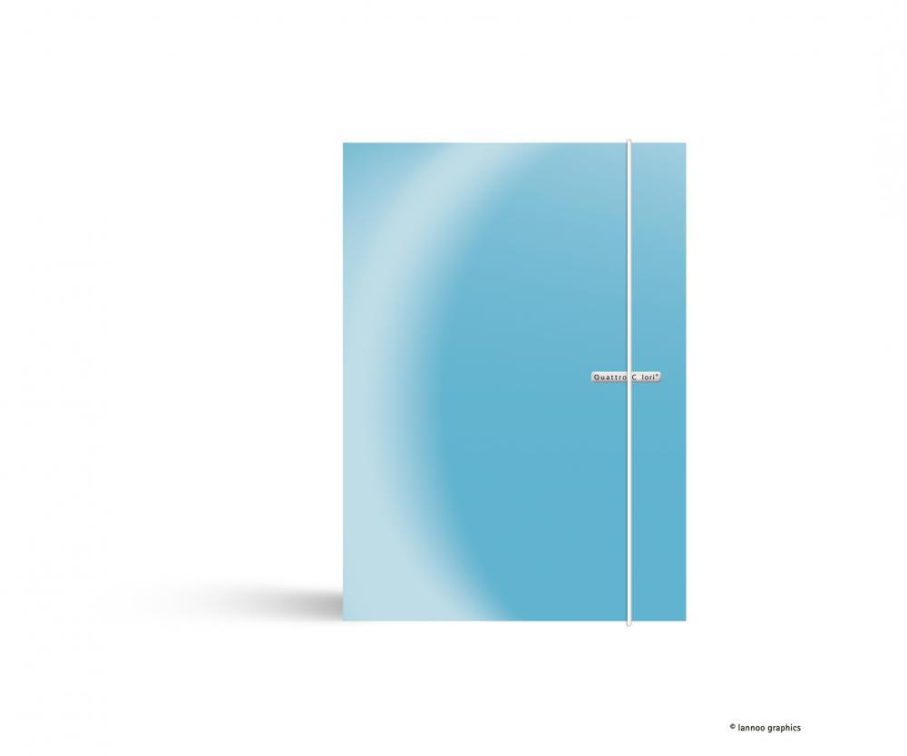 zzMapa cu elastic QuattroColori,PP,A4,bleu