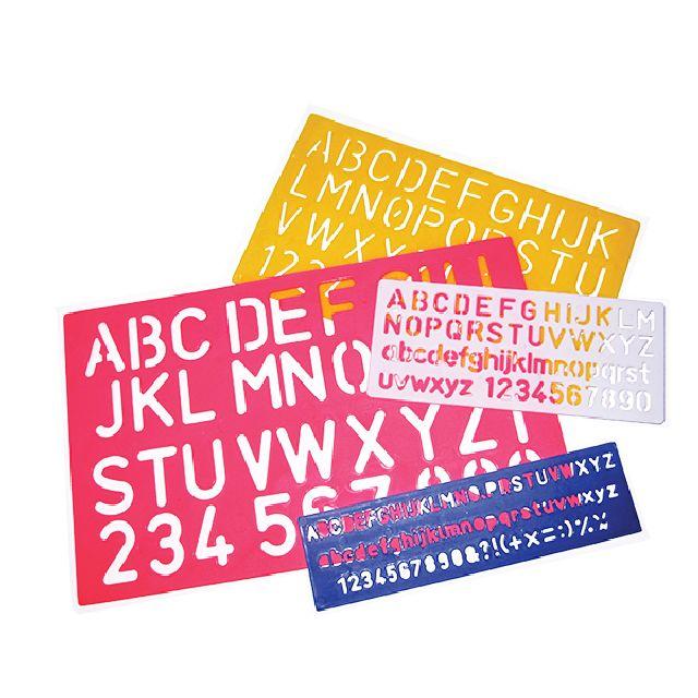 Sabloane alfabet+cifre,4b/set,DP Fantasy