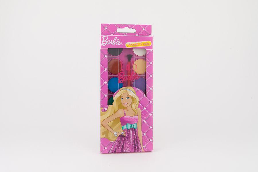 Acuarele 12 culori, Barbie