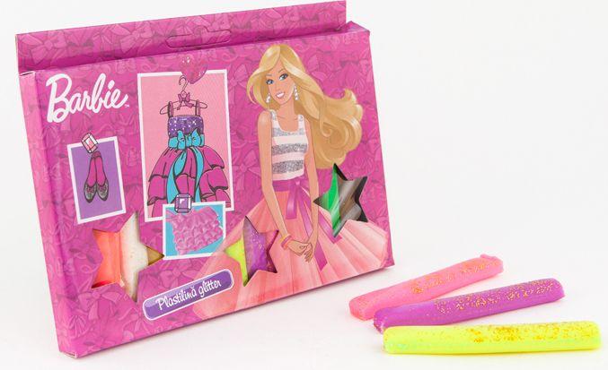 Plastilina glitter,12culori,Barbie