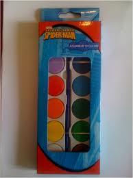 Acuarele 12 culori, Spiderman