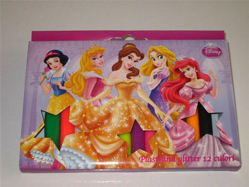Plastilina glitter,12culori,Princess