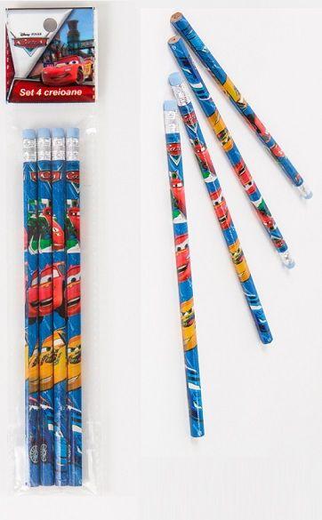 Creioane grafit,4/blister, Cars